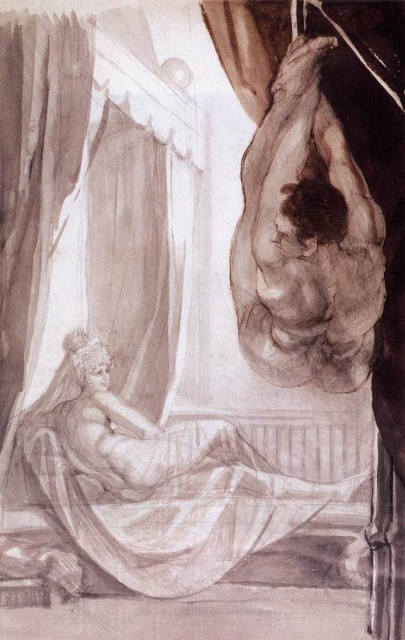Johann_Heinrich_Füssli_-_Brunhilde_Observing_Gunther,_Whom_She_Has_Tied_to_the_Ceiling_-_WGA08337.jpg