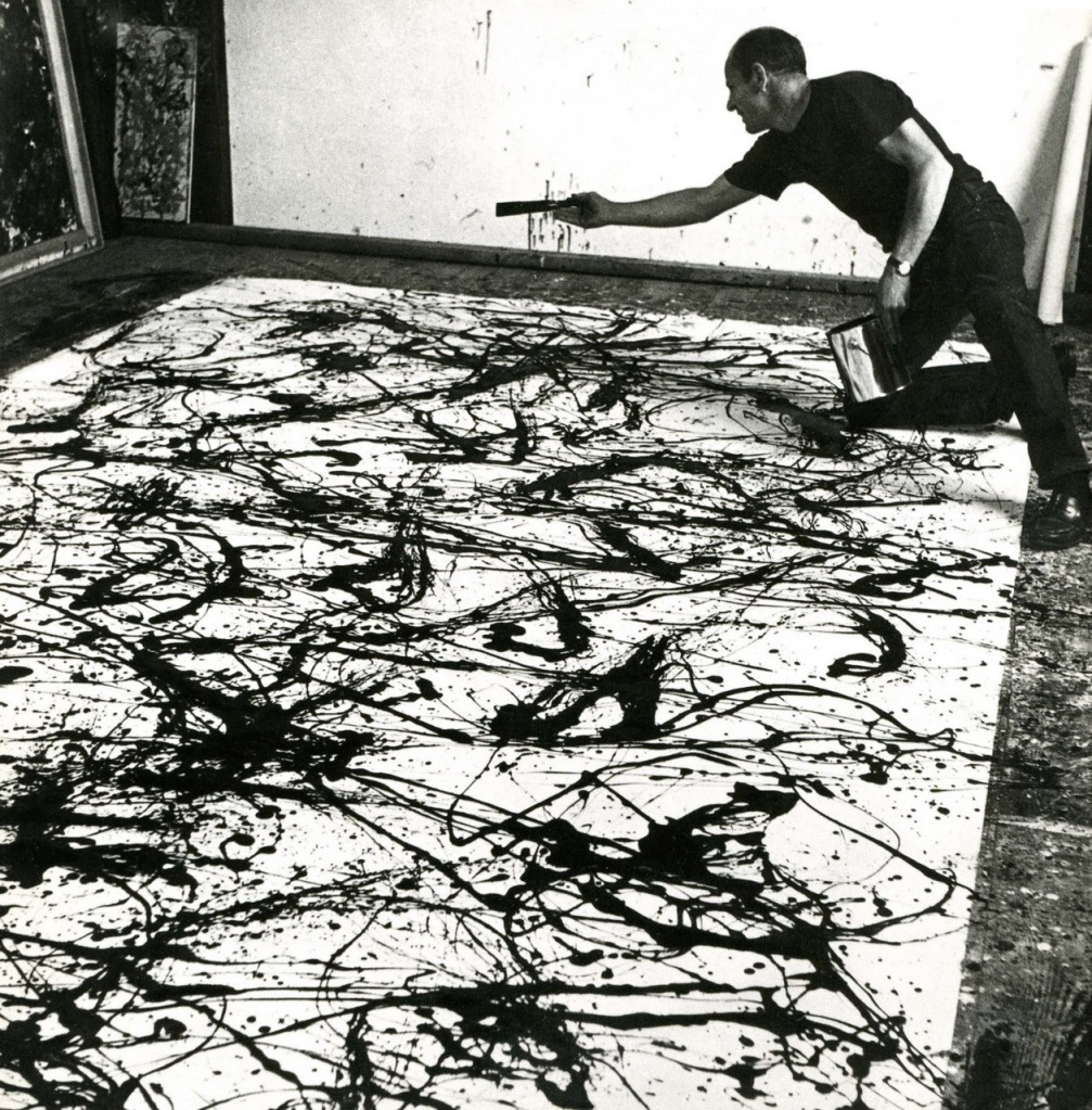 Hans Namuth - Jackson Pollock Painting, 1950.