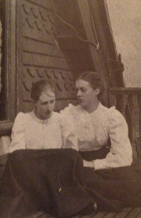 Virginia Woolf and her sister, Vanessa, 1896.