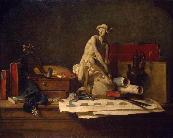 Jean-Baptiste Siméon Chardin -StillLifewithAttributesoftheArts1766