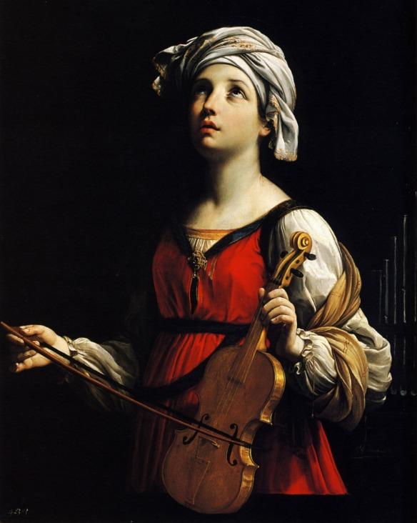 Saint Cecilia, Guido Reni, 1606.
