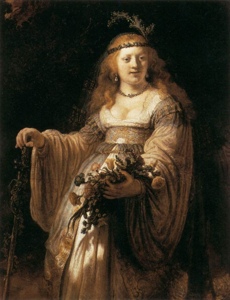 saskia-in-arcadian-costume-by-rembrandt-1635