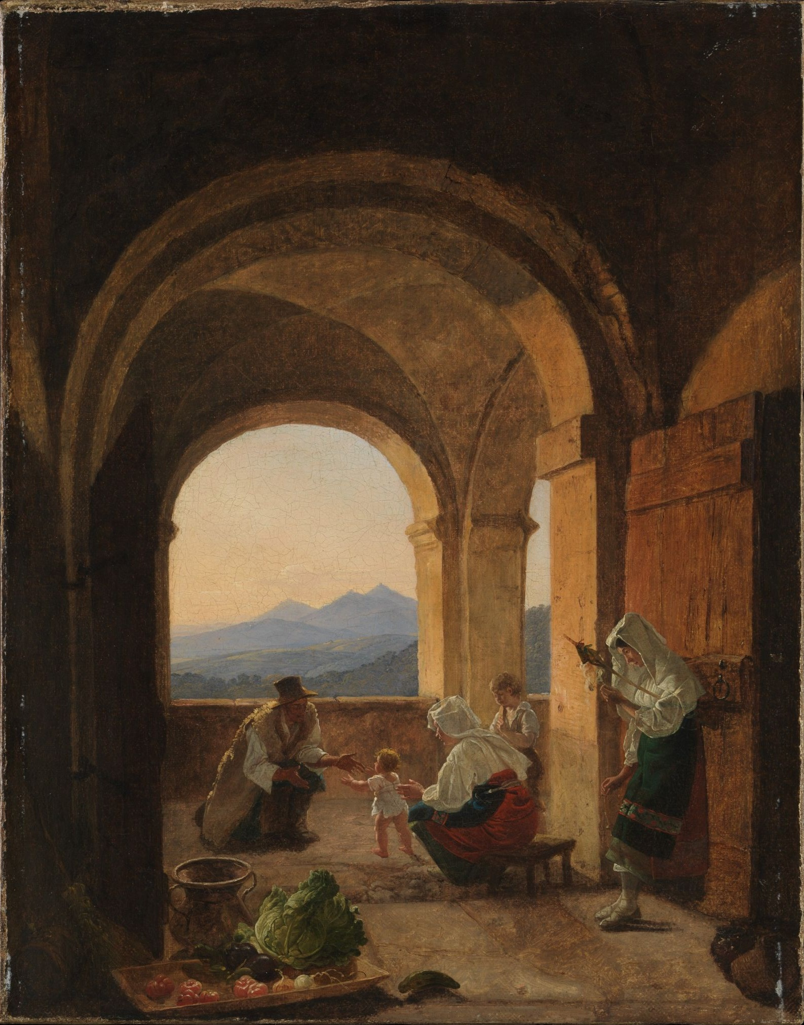 Franz_Ludwig_Catel_-_First_Steps_(1820s)